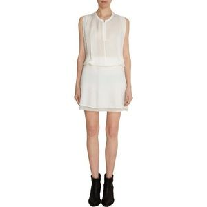 Acne Marlow Silk Blouson Nude Sleeveless Dress